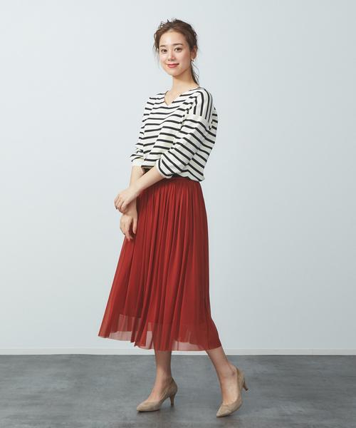 [Rouge vif la cle] エスパンディギャザースカート