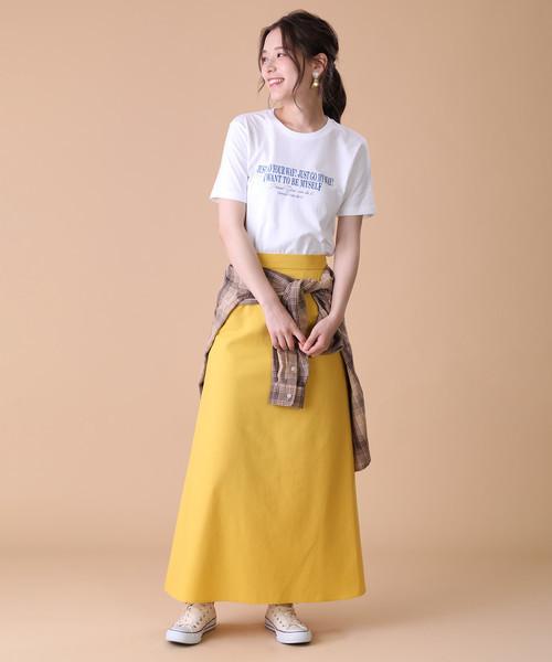 [FREAK'S STORE] 麻混マーメイドスカート