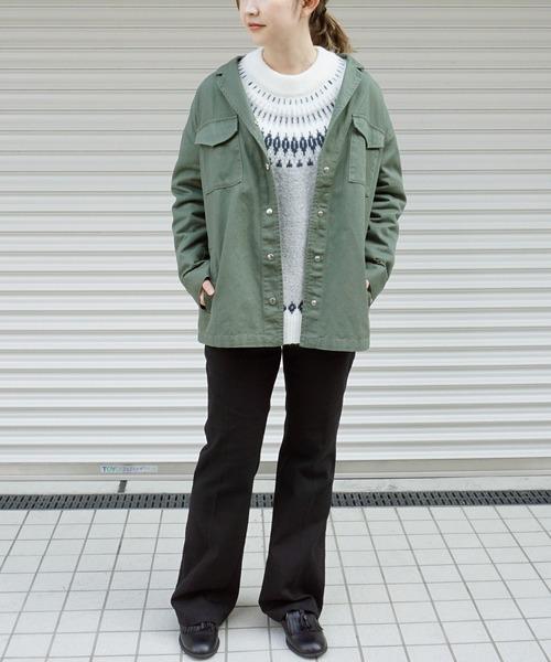 [STYLE AVENUE] CPOミリタリーシャツジャケット【大きいサイズ対応】