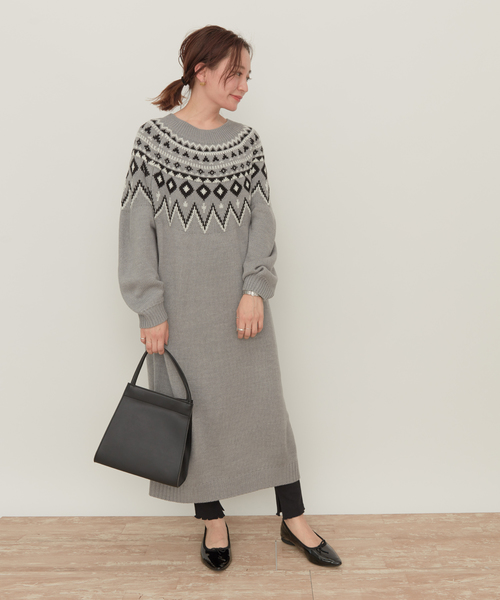 ジャストな着丈のスカート&ワンピコーデ2
