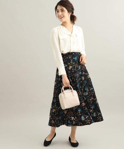 [ViS] フラワーマキシナロースカート