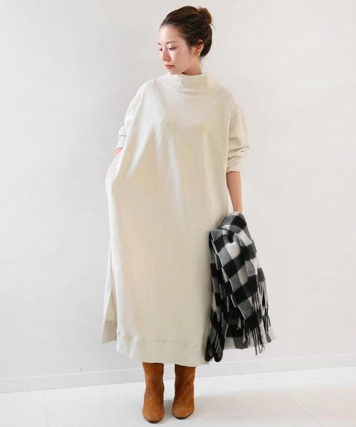 ジャストな着丈のスカート&ワンピコーデ3