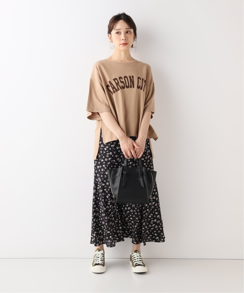 [IENA] 裏毛ロゴTシャツ◆