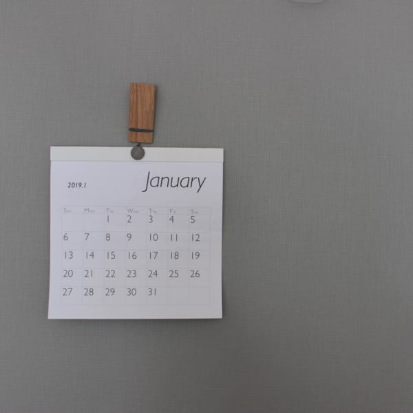 カレンダーの飾り方