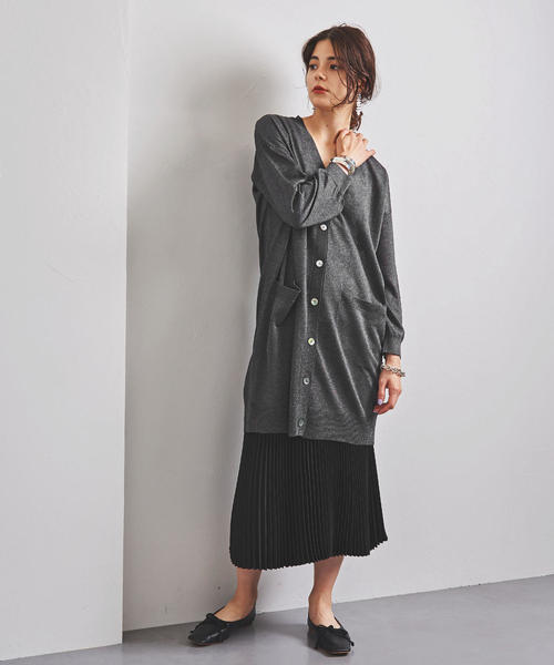[UNITED ARROWS] <STYLE for LIVING>スパーク ロング カーディガン