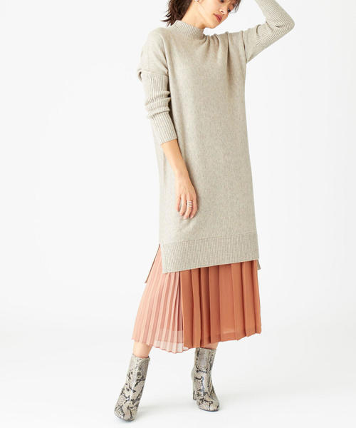 [EMMEL REFINES] 〔ハンドウォッシャブル〕SMF HW 異素材プリーツスカート