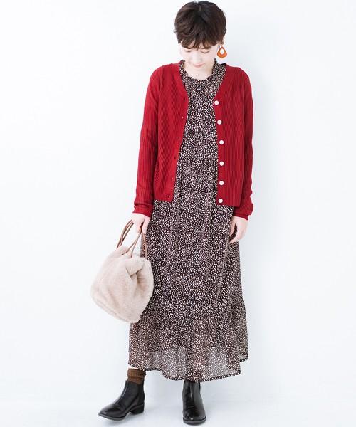 [haco!] 重ね着にも単品でも便利な大人のための柄ワンピース by que made me