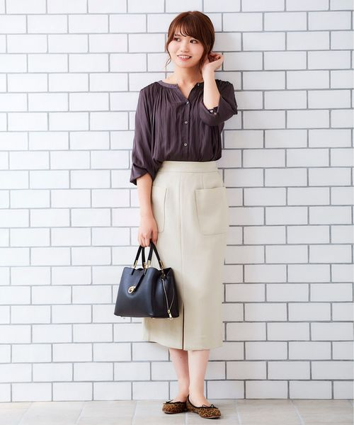 [le.coeur blanc] ポケットツキイージータイトスカート