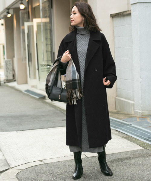 [URBAN RESEARCH ROSSO WOMEN] F by ROSSO メルトンビッグチェスターコート