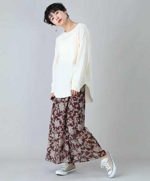 [FREAK'S STORE] 更紗柄プリントフレアスカート
