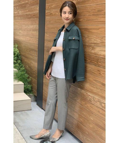 [TONAL] ニットメルトンシャツジャケット