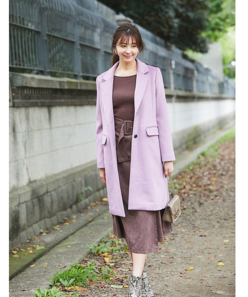 [tocco closet] フェイクスウェードラップスカート