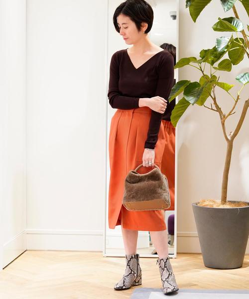 [TOMORROWLAND] ドライオックス バックギャザースカート