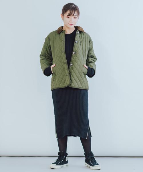[itowa tokyo&wordtrobe] 【wordtrobe】ナイロンキルティング ジャケット
