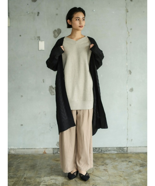 [CRAFT STANDARD BOUTIQUE] CABLE KNIT LONG CARDIGAN/ケーブルニットロングカーディガン〇*