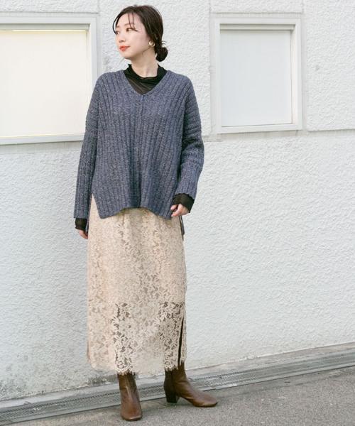 [KBF] KBF+ 製品染めレーススカート