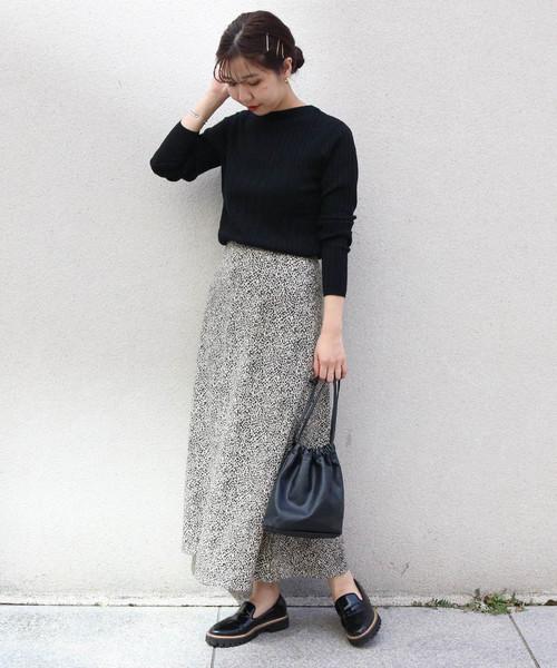[CAPRICIEUX LE'MAGE] モザイク柄マーメイドスカート