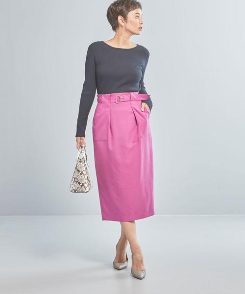 ピンクスカート×グレートップスの40代春コーデ