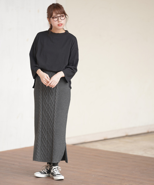 [rps] ケーブル編みニットスカート