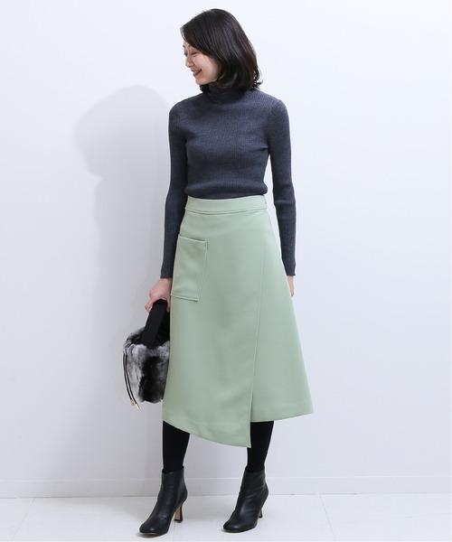 [Spick & Span] サイドポケットラップスカート◆