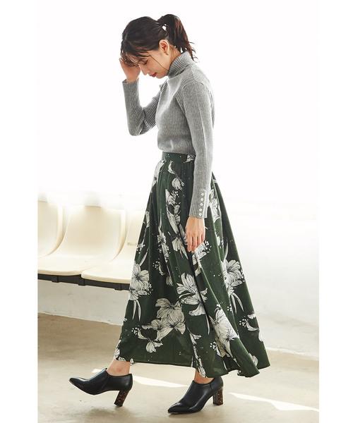[GeeRA] 【WEB限定】プリントロングスカート