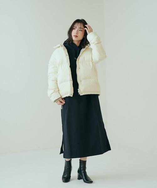 [CIAOPANIC] ミドル丈カラーダウンジャケット