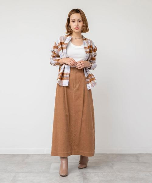 [coen] インディアンネルチェックバンドカラーシャツ
