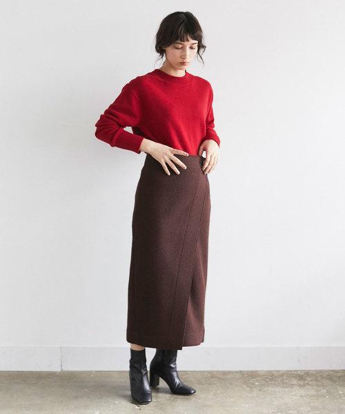 [GALLARDAGALANTE] クレーターラップスカート