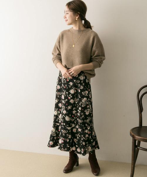 [URBAN RESEARCH] ブラッシングフラワープリントスカート