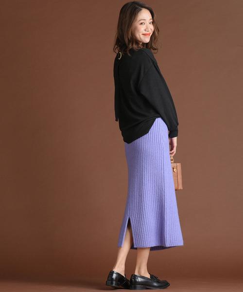 [MAYSON GREY] 【socolla】ニットラップ風スカート