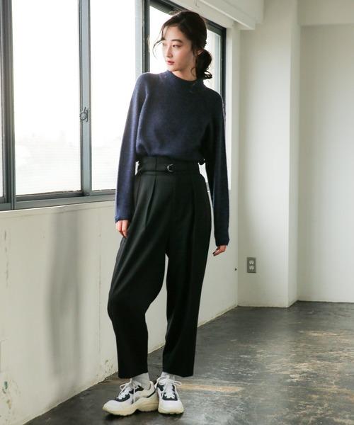 [niko and...] TR起毛ハイウエストタックパンツ