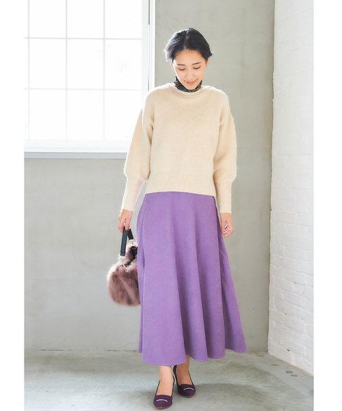 [tocco closet] フェイクスエードナロースカート