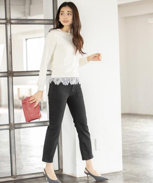 【韓国】4月に最適な服装:パンツコーデ6