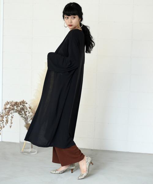 [Bou Jeloud] 【WEB限定】ワイドスリーブロングカーデ