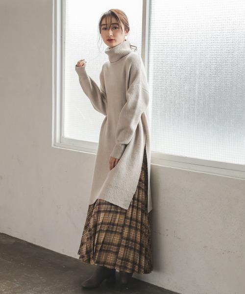[niko and...] バイヤスチェックプリーツスカート