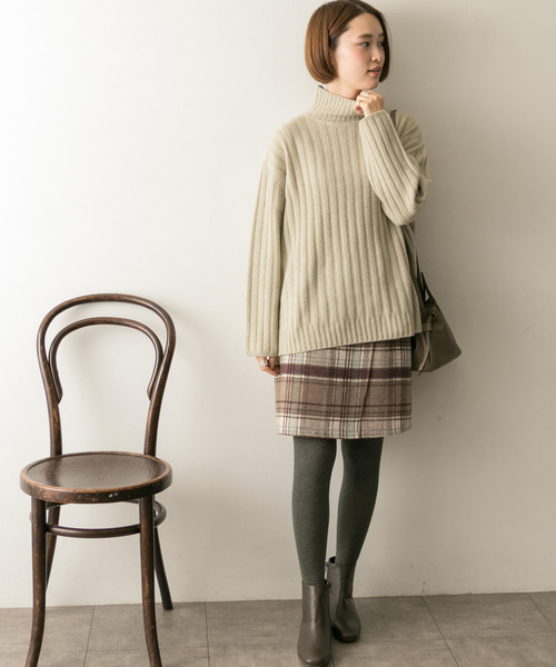 [URBAN RESEARCH] リバーシブルチェック台形スカート