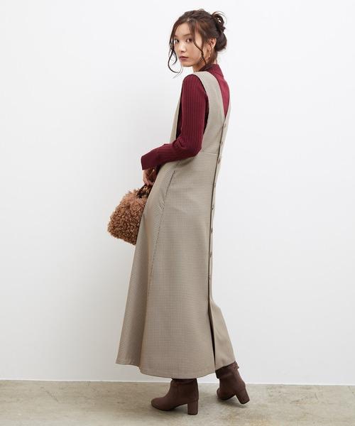 [ROPE' PICNIC] バック釦ジャンパースカート