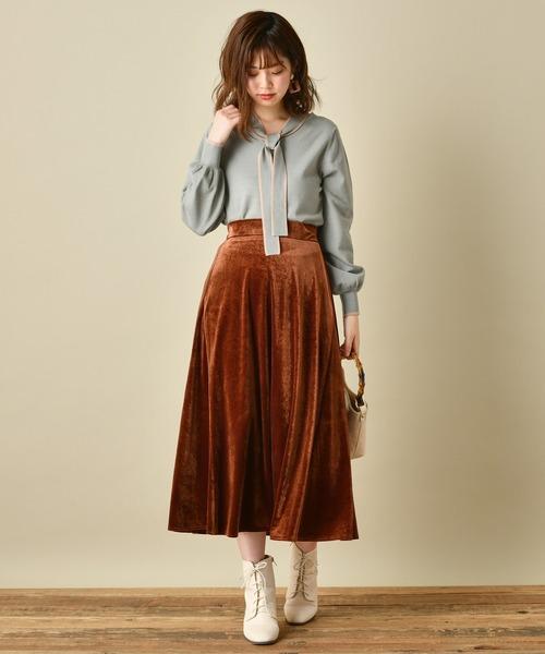 スカートで大人かわいいコーデ