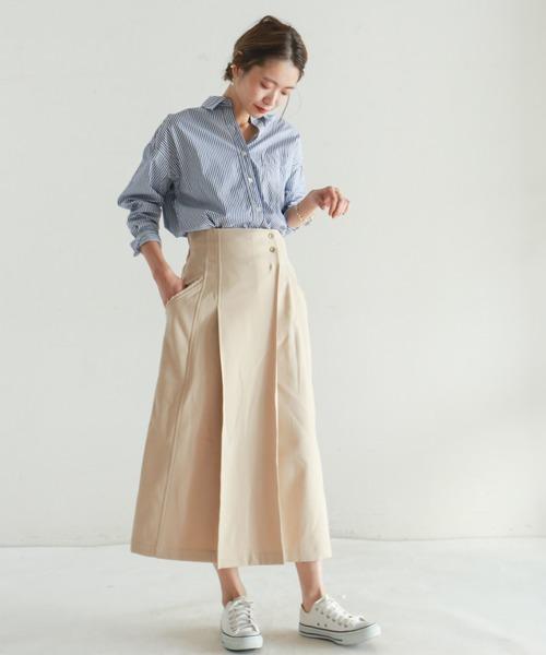 [NOMBRE IMPAIR] 高密度ロンドンストライプ ワイドシャツ
