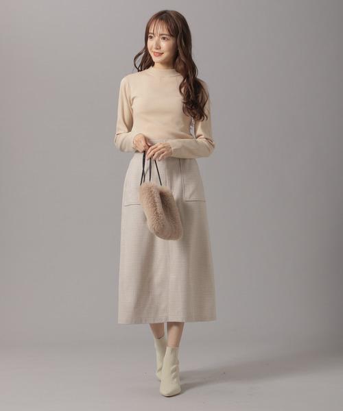 [Andemiu] ウールフウポケツキスカート860917