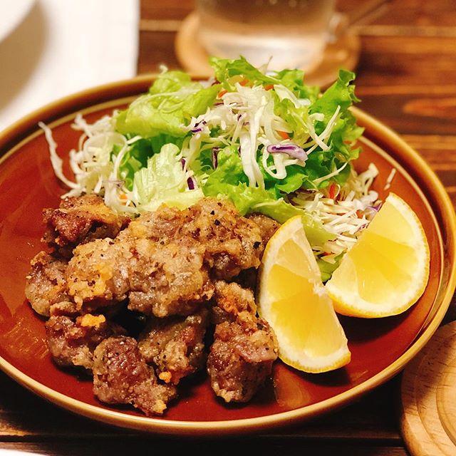 夕食に人気のおかず!砂肝のレモンペッパー
