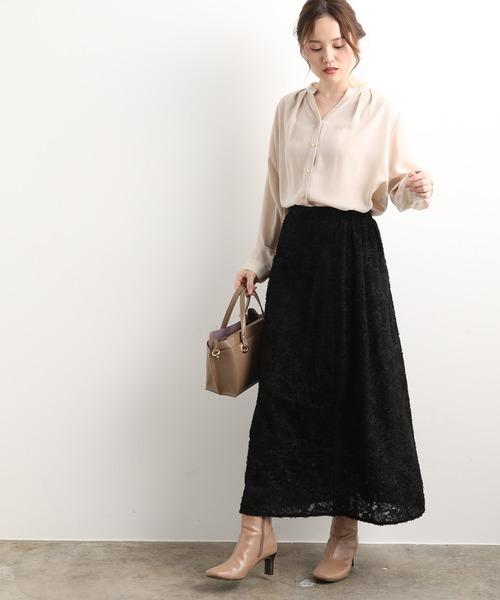 [ViS] 【WEB限定】オパールフリンジスカート