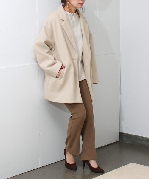 [Social GIRL] オーバーサイズビッグシルエットテーラードジャケットコート