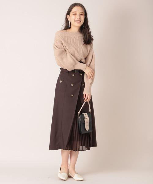 [mysty woman] トレンチプリーツスカート 868216