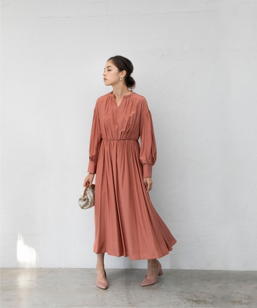 [smeralda] ボリュームパフスリーブドレス