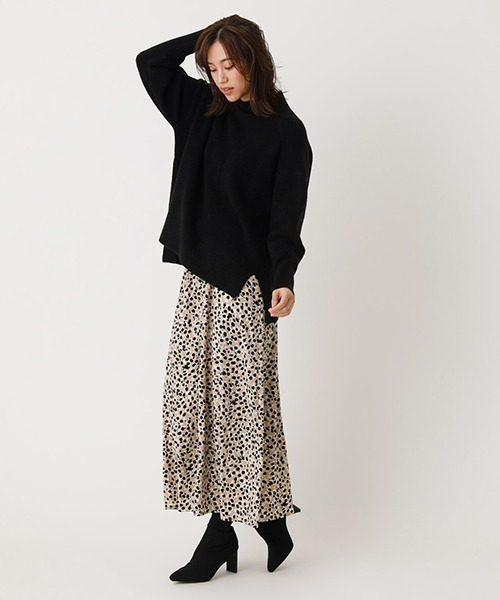 [AZUL BY MOUSSY] LEOPARD NARROW SKIRT/レオパードナロースカート
