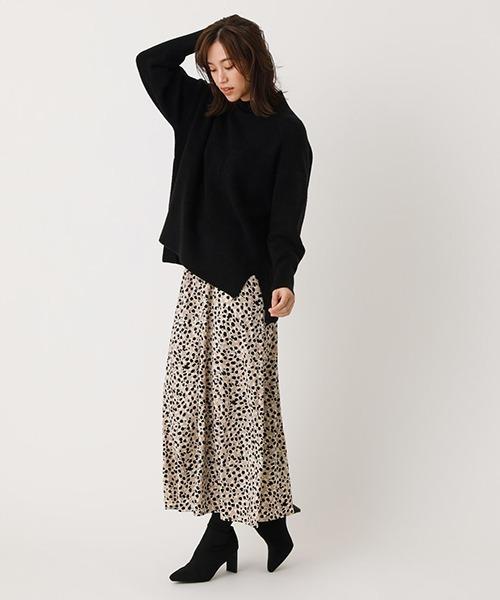 [AZUL BY MOUSSY] LEOPARD NARROW SKIRT/レオパードナロースカート