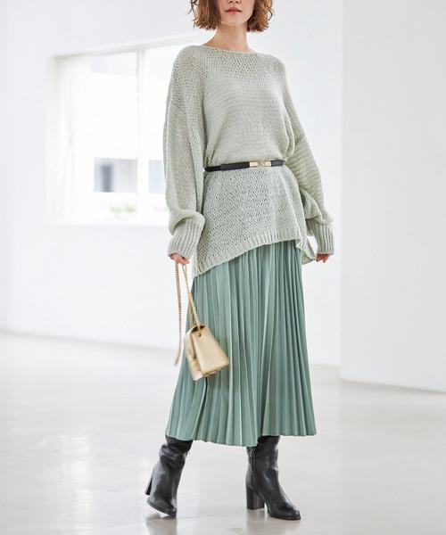 [tocco closet] ツイルプリーツスカート