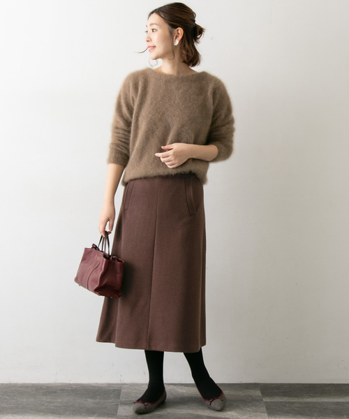 [URBAN RESEARCH ROSSO WOMEN] ウール混Aラインスカート