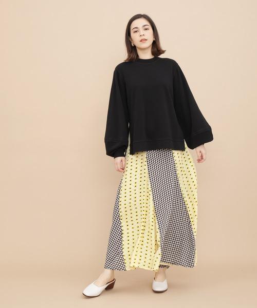 [ADAM ET ROPE'] 【GANNI】Printed Crepe Skirt(スカート)